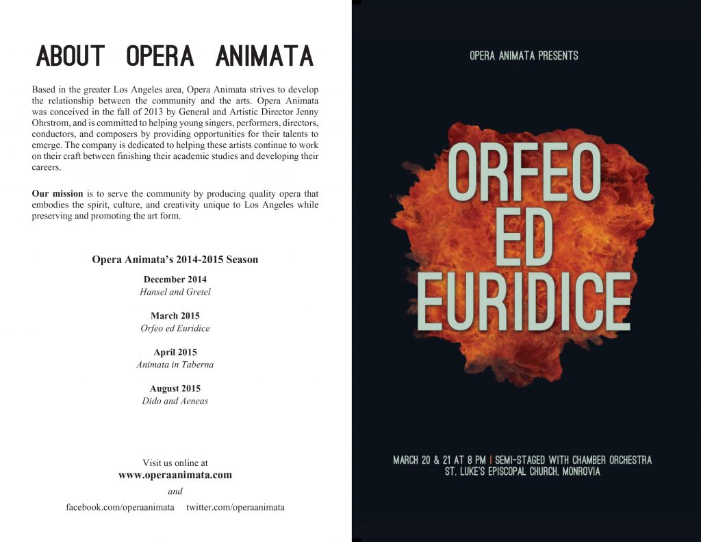 Orfeo ed Euridice | PROGRAM PREVIEW